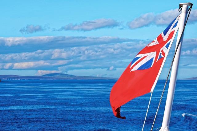 vlajka na lodi